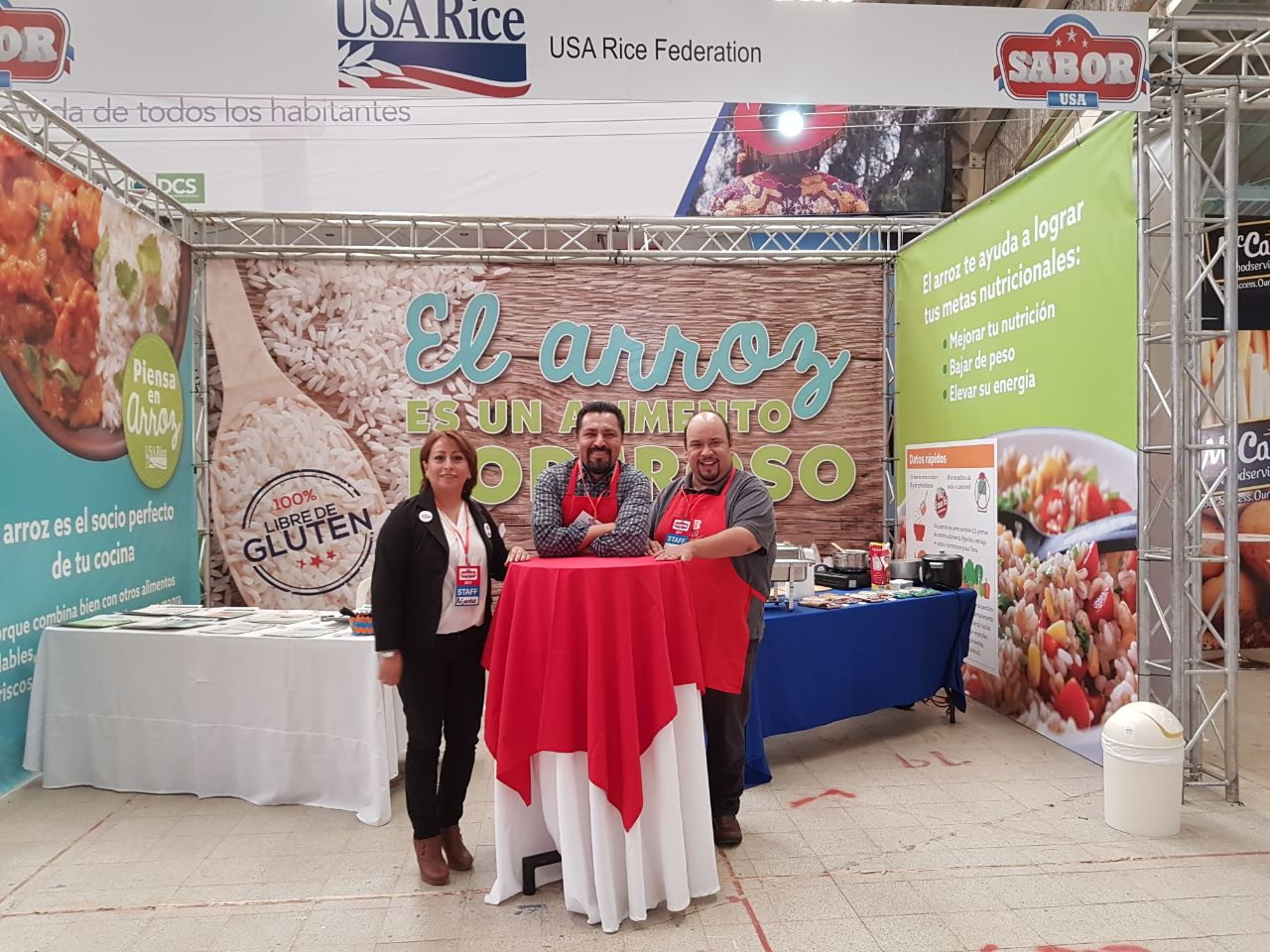 USA Rice booth at the USDA/FAS event, Sabor USA, in Guatemala