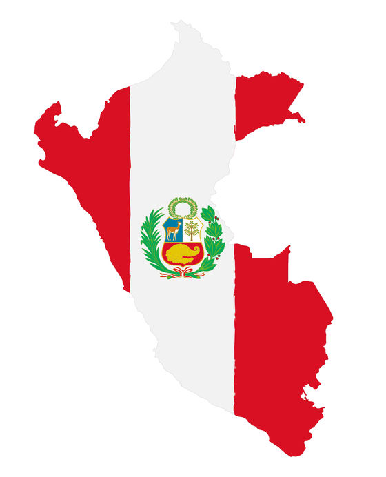 Peru-Flag-Map