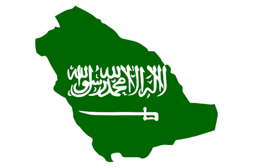 Saudi-Arabia-Flag-Map