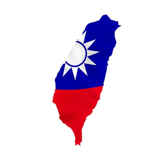 Taiwan-Flag-Map