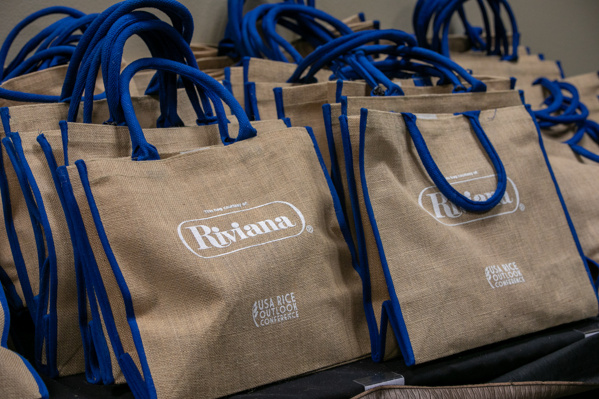 Goodie bags from show sponsors