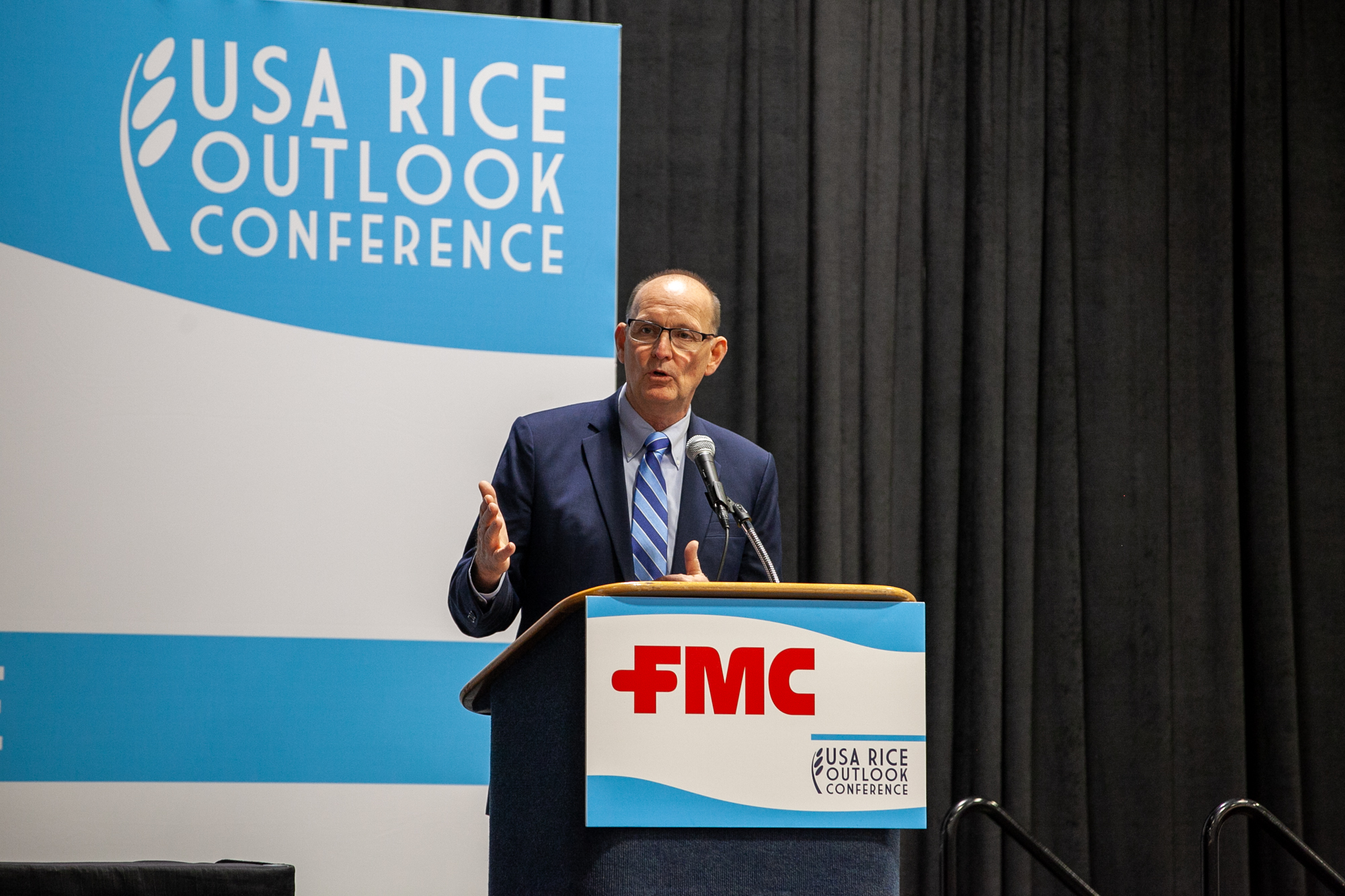 USDA Under Secretary Ibach took the stage to talk imports and exports
