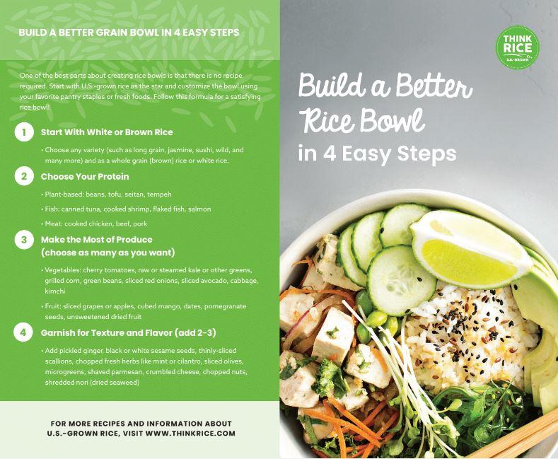 Build a Better Rice Bowl Brochure