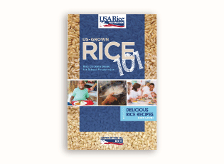 Thumbnail image of the Rice 101 Cooking Guide for K-12 foodservice operators.