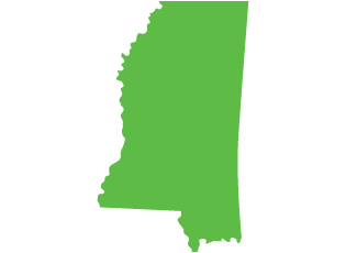 An image of the state of Mississippi
