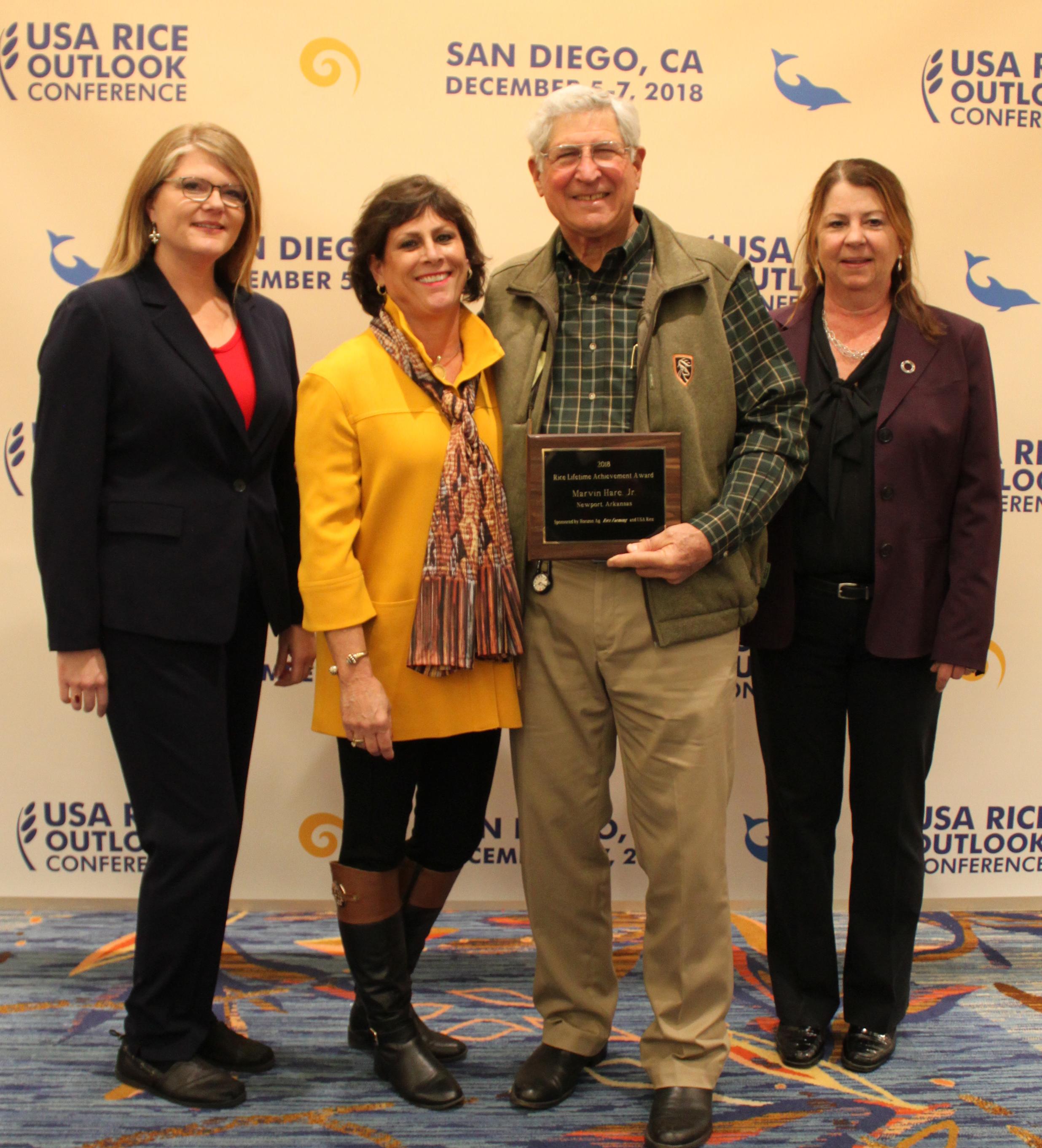 2018 Lifetime Achievement Marvin Hare, his wife, Sunny Bottoms & Betsy Ward