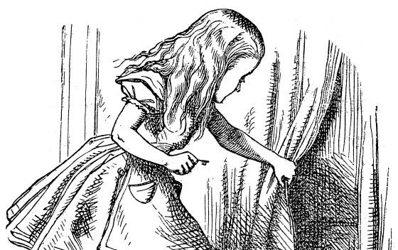 Alice in Wonderland lifts the curtain