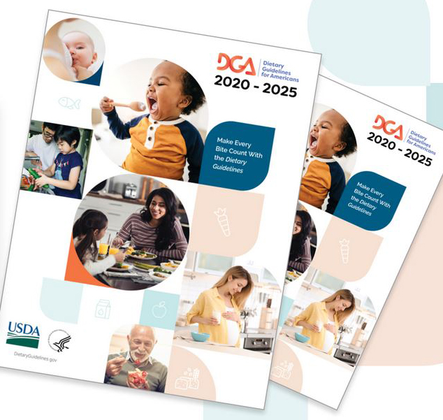 2020-25 DGA cover art shows people of various ages eating, drinking, preparing food