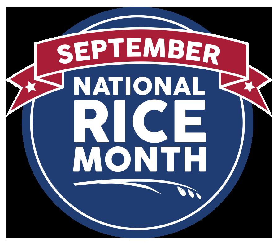 September National Rice Month Logo