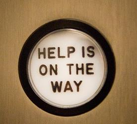Help is On the Way button