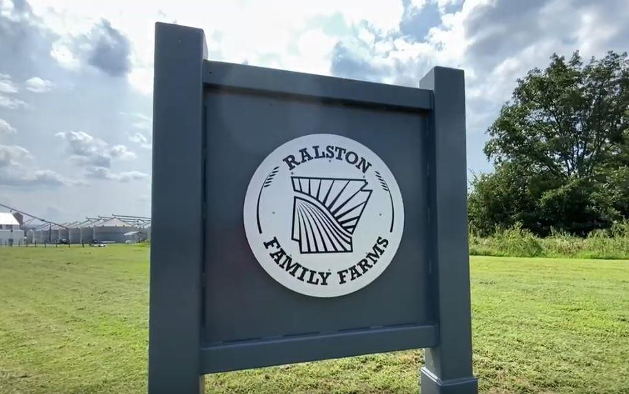 Ralston Family Farm sign