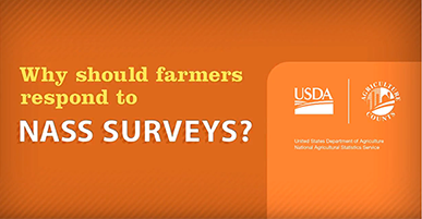 Why Should Farmers Respond to NASS Surveys text with USDA logos