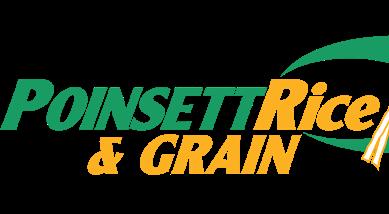 Text reads: Poinsett Rice & Grain