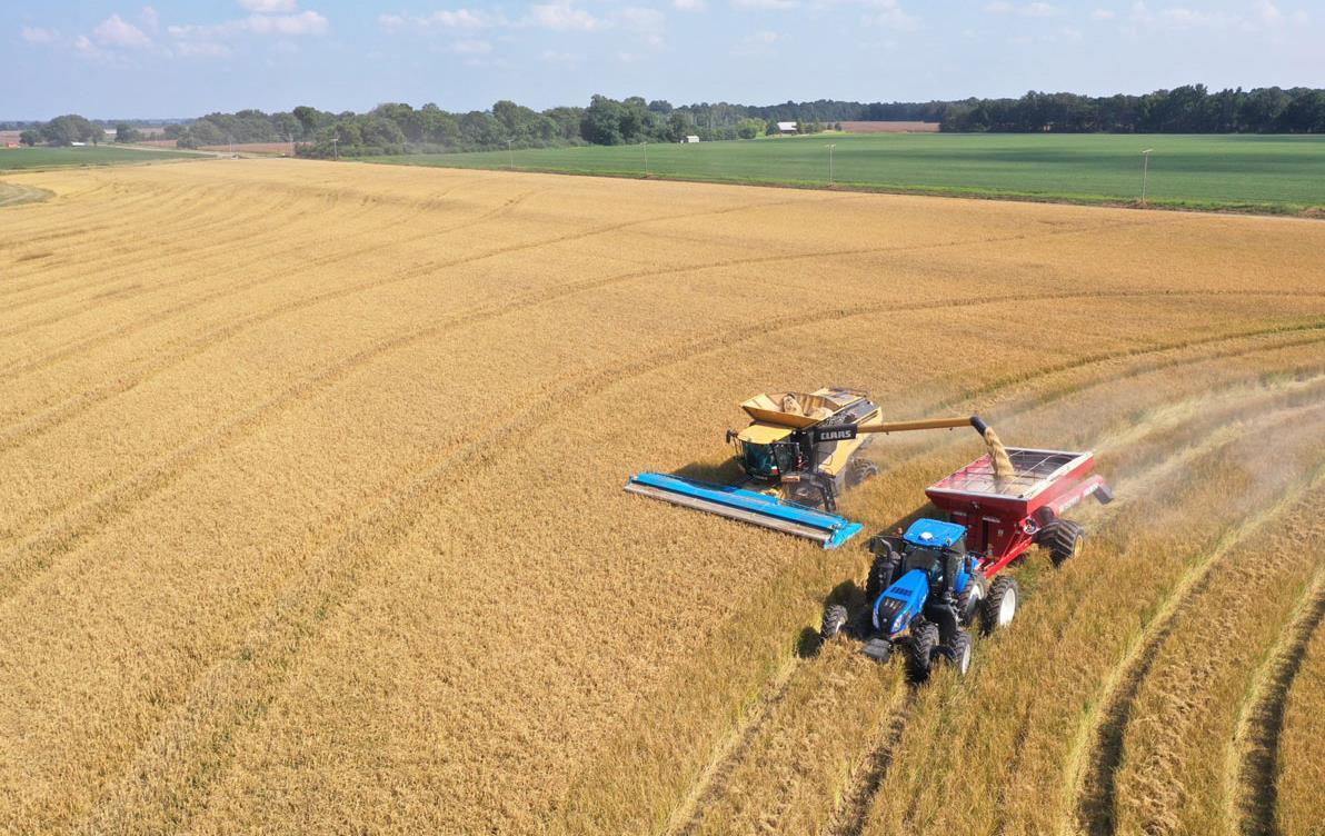 Drone photo of rice-harvest in Arkansas, Jay-Coker-photo