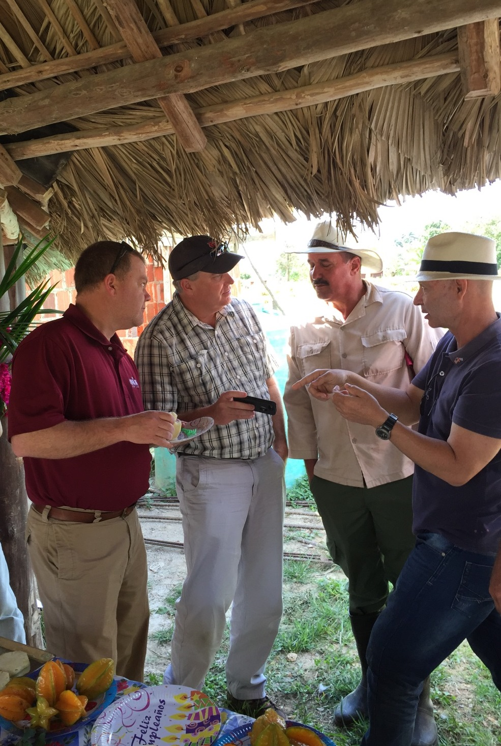 Missouri rice farmer, Rance Daniels, with Cuba Delegation