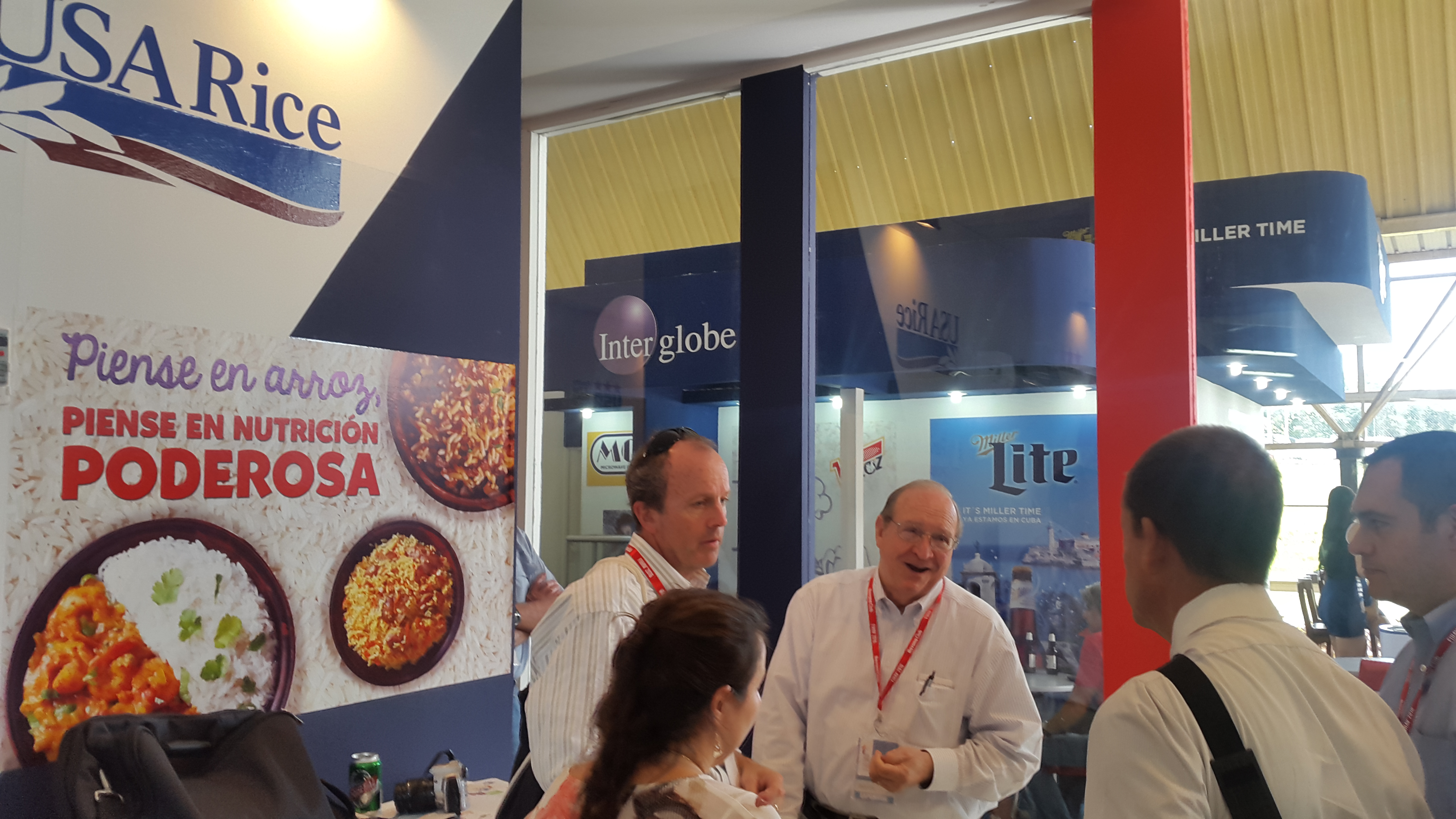 USA Rice booth at Havana International Fair in Cuba