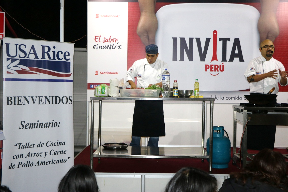 USA Rice sponsoring a gastronomic fair in Peru