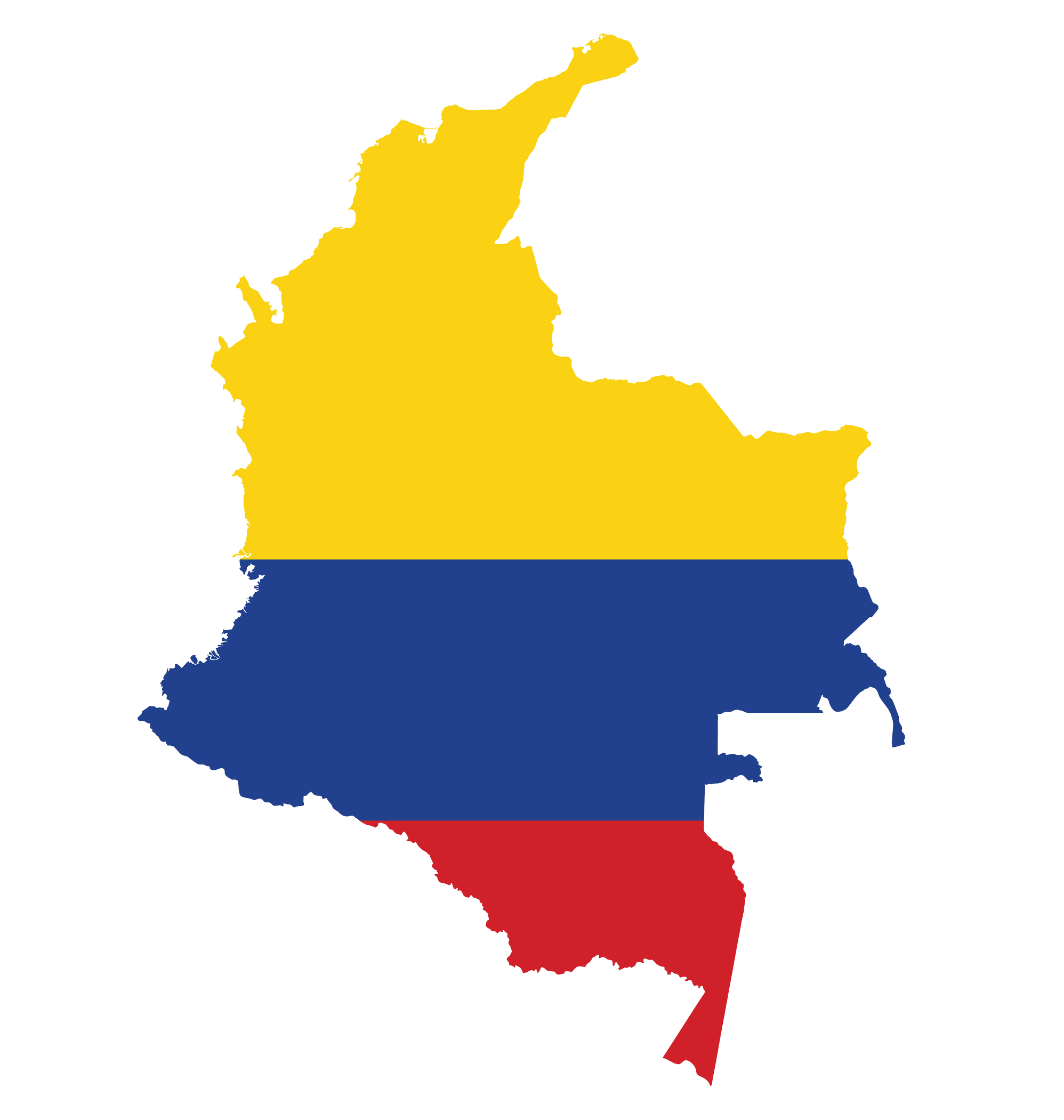 Colombia-Flag-Map