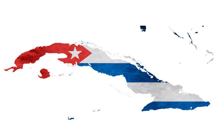 Cuba-Flag-Map