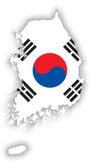 South-Korea-Flag-Map