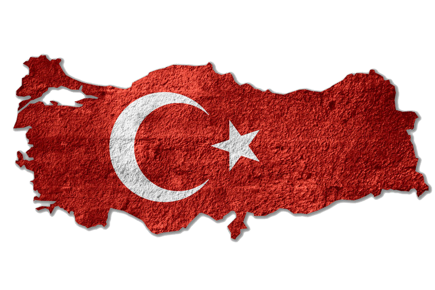 Turkey-Flag-Map