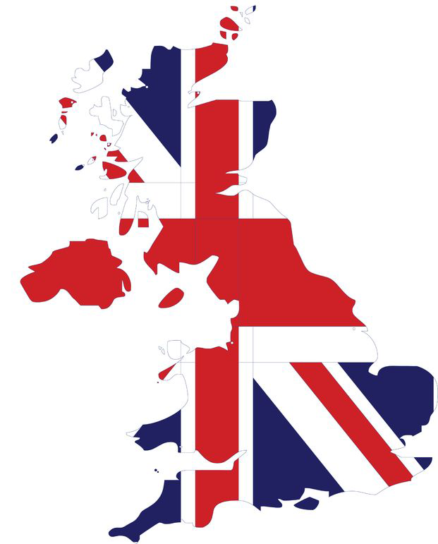 UK Flag Map