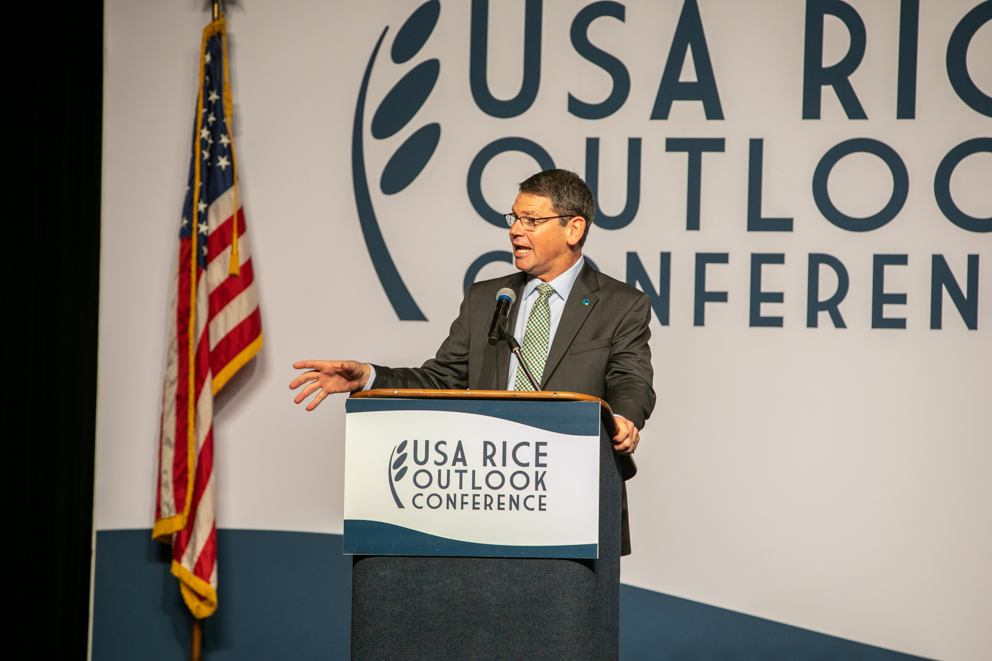 NRCS Chief Matthew Lohr shared personal stories and agency news