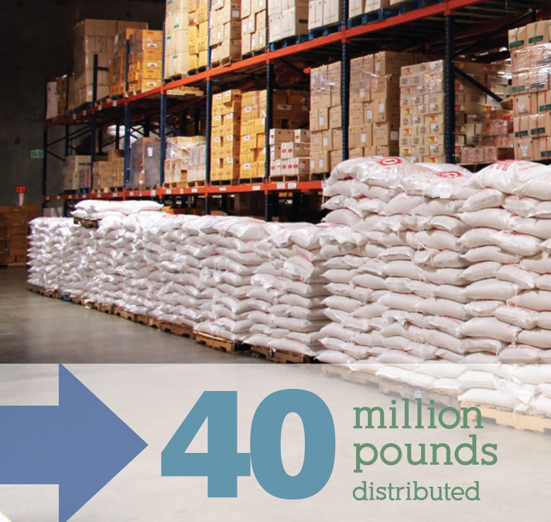 40 Million Pounds of Rice Distributed to Local Food Banks