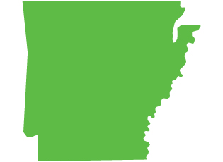 An image of the state of Arkansas