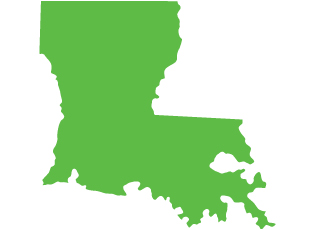 An image of the state of Louisiana