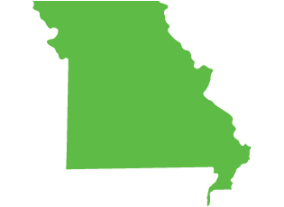 An image of the state of Missouri