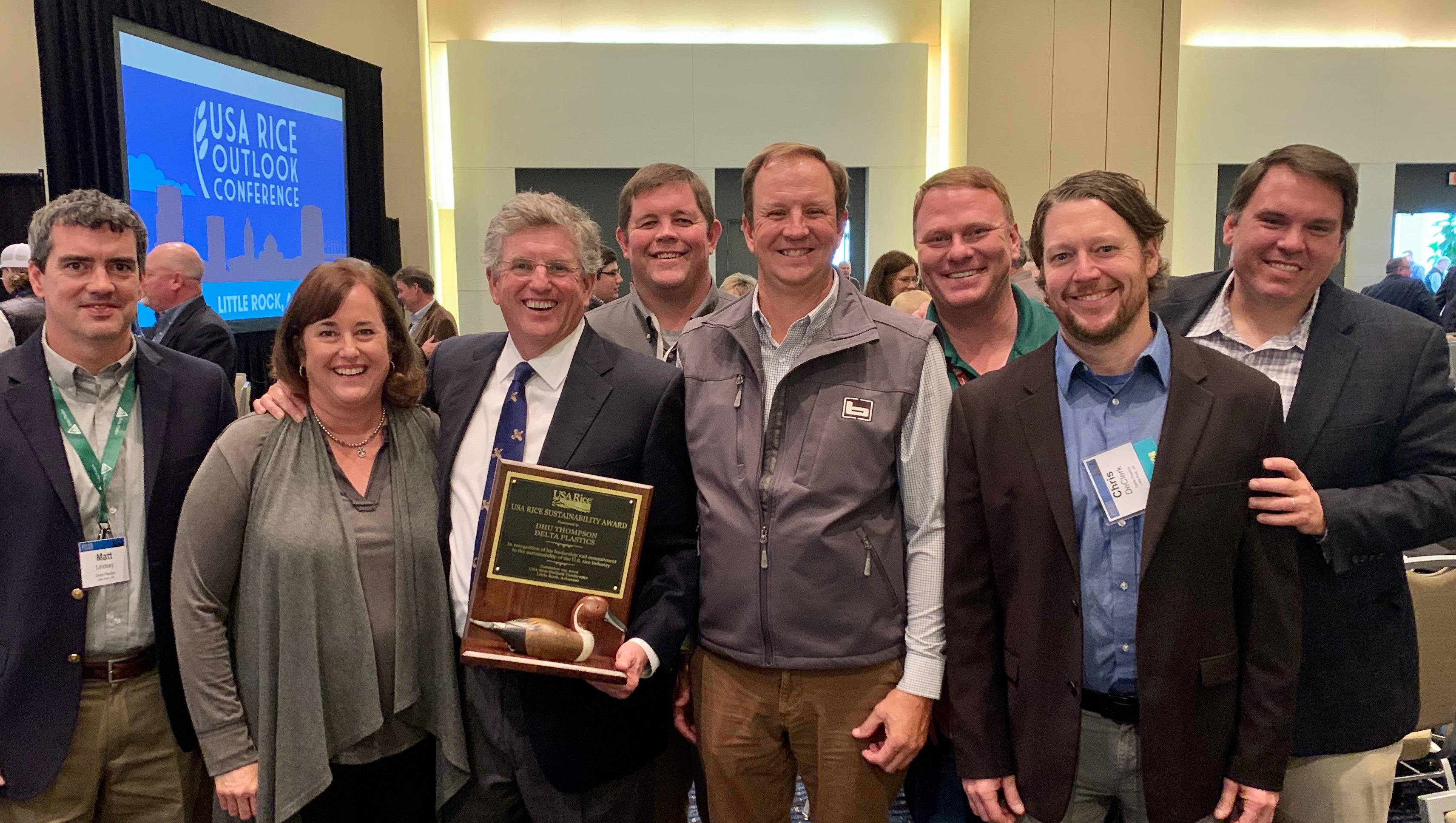 Delta Plastics 2019 Sustainability Award, group shot