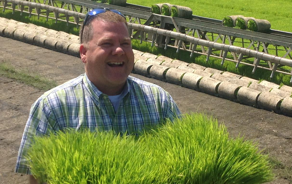 Rance Daniels in Thailand in 2015 with the International Rice Leadership Program