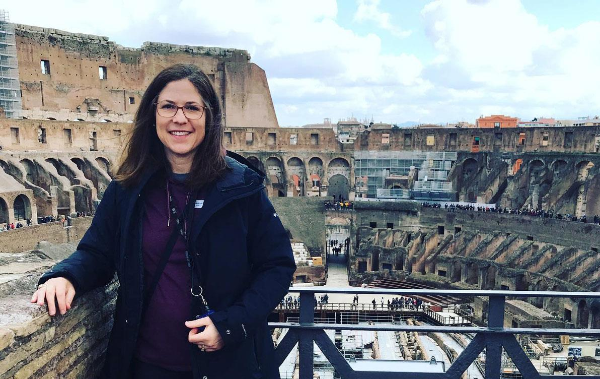 Woman at Colosseum in Rome