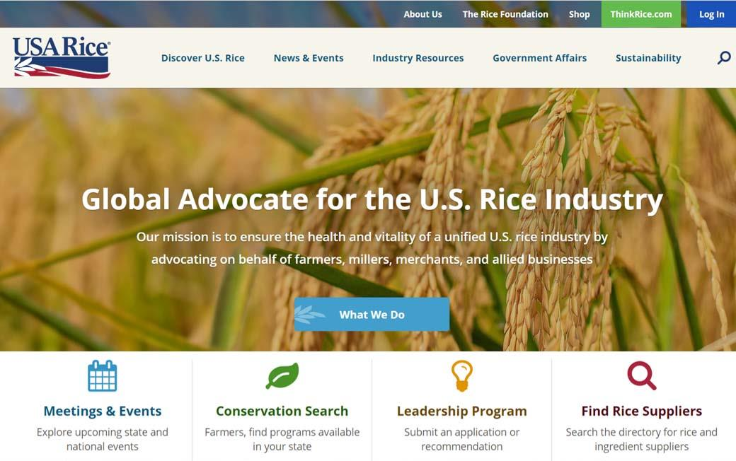 USA Rice Website Update Offers New Features and Resources