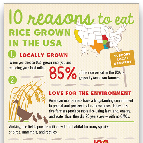10 Reasons to Eat Rice Grown in the USA #thinkrice