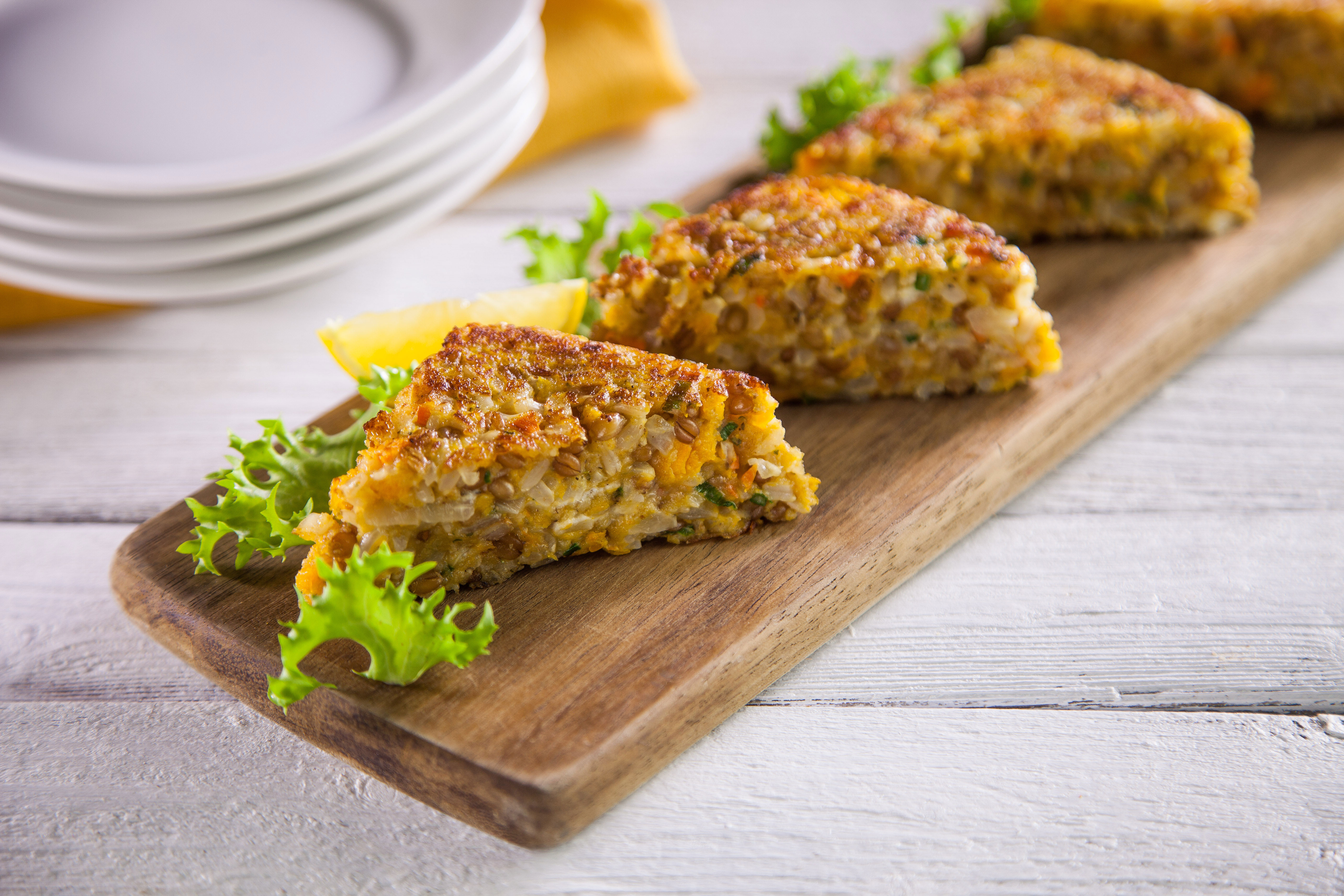 Butternut-Squash-Cakes-with-Mixed-Grains