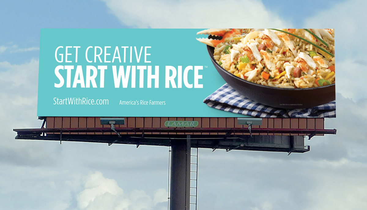 Get Creative Start With Rice billboard, clear sky