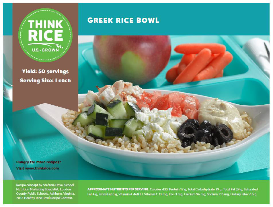 Usa rice debuts winning recipe from healthy rice bowl contest forumfinder Images