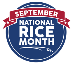 September National Rice Month Logo