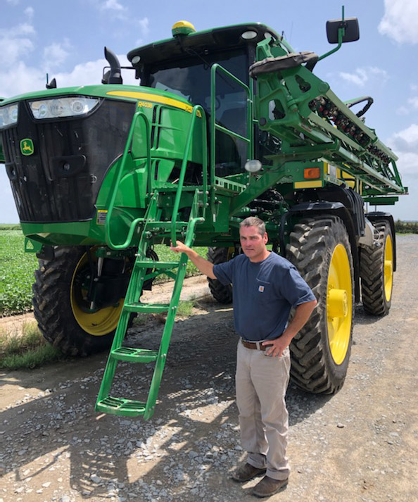 David Petter and a sprayer