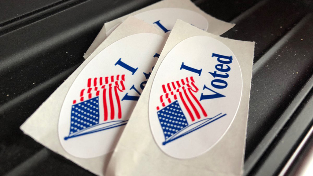 "Red, white & blue ""I voted"" stickers-181107"