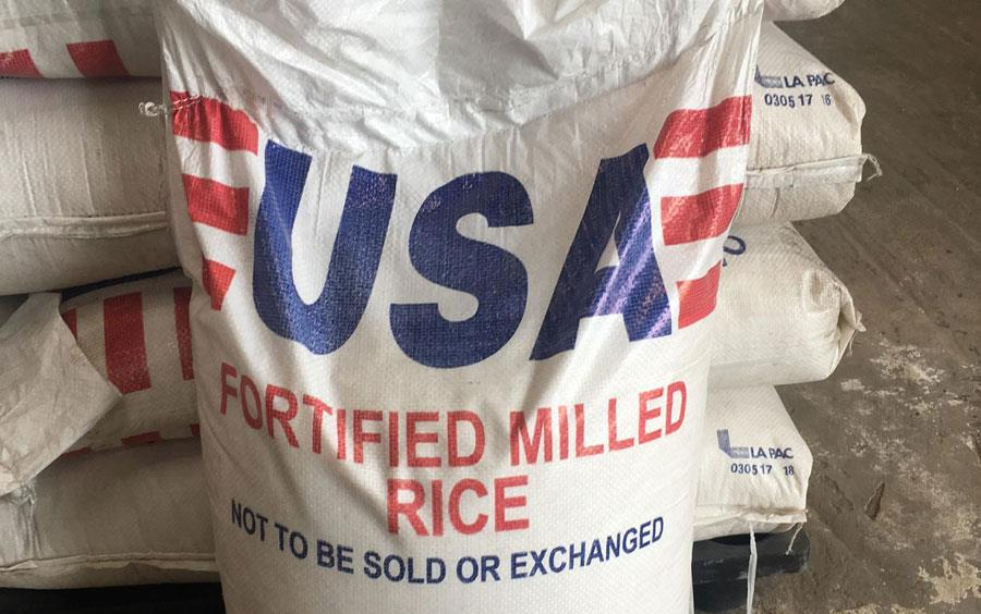 Fortified-rice-bag from USDA