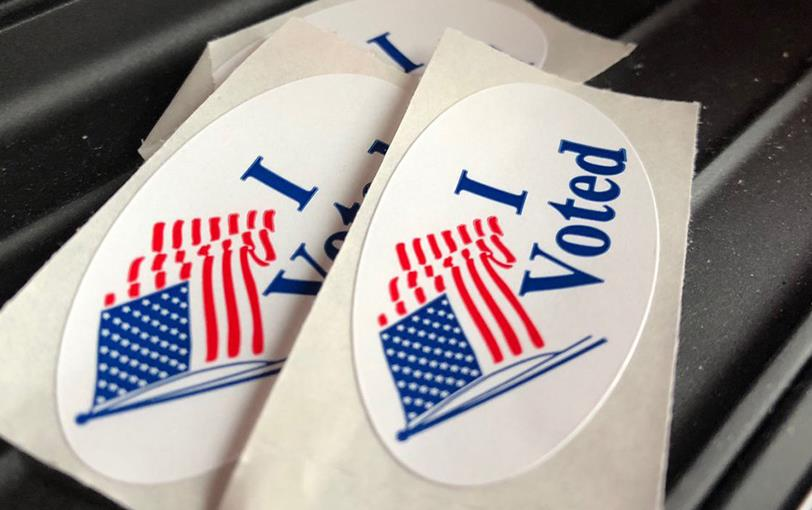 """Red, white & blue """"I voted"""" stickers-181107"""
