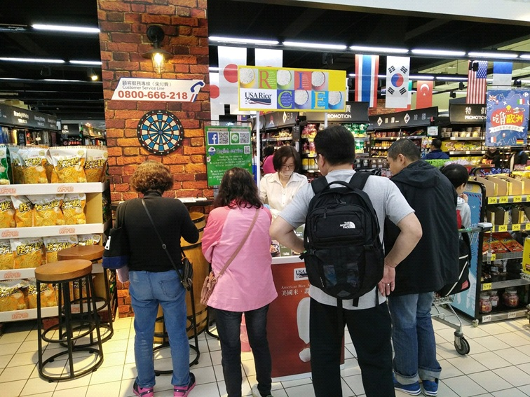 In-store rice tasting with shoppers in Taiwan