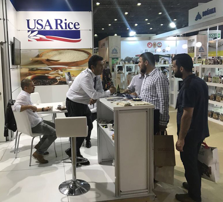 USA Rice booth at Turkey Trade Show