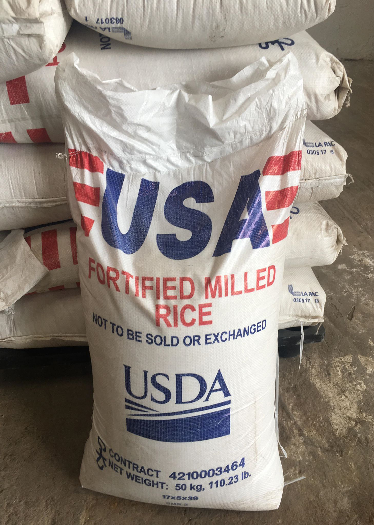 50kg bag of USA fortified rice