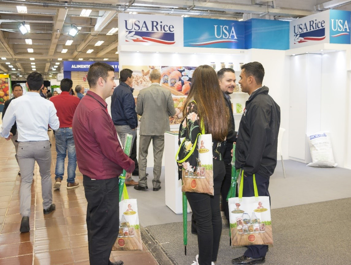USA Rice booth at the Alimentec trade show