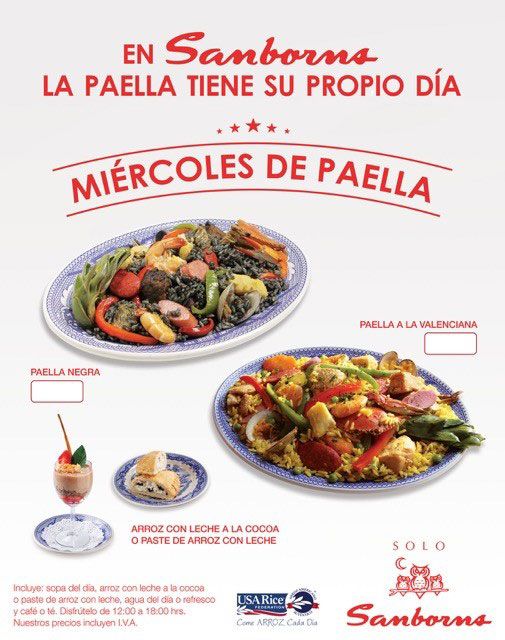 Mexico Promotions Highlight U.S. Rice - Sanborns Poster