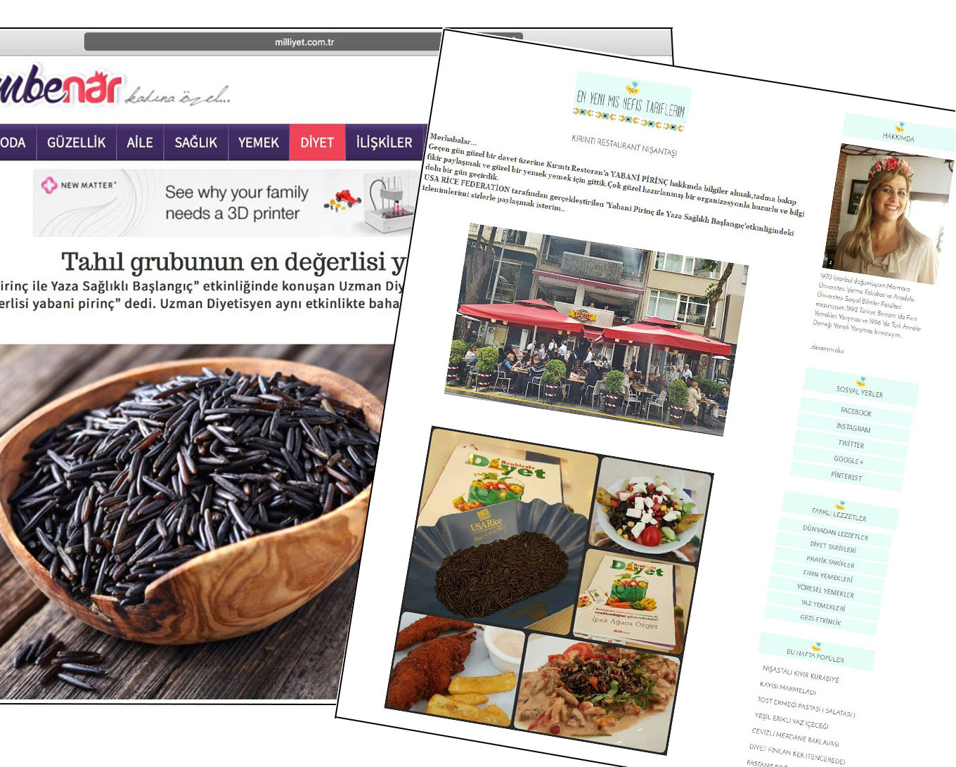 Images of wild rice blog posts in Turkey